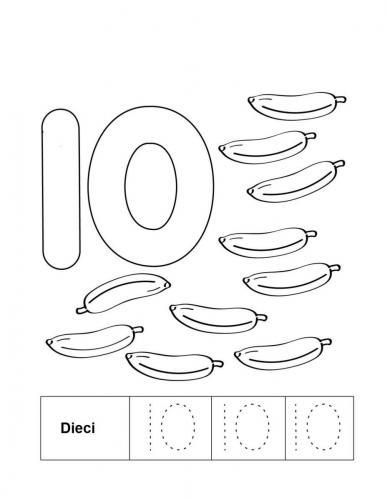 numeri colorati da stampare 10