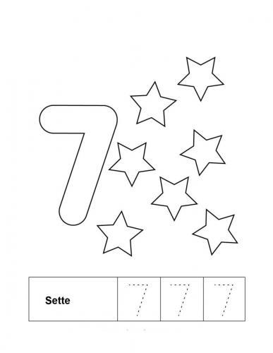 numeri da colorare e stampare per bambini 7