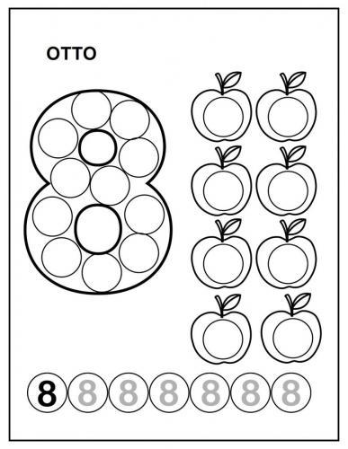 numeri da colorare per bambini 8