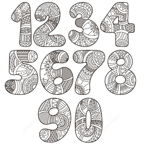 numeri da colorare