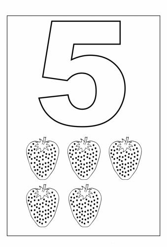numeri disegnati 5