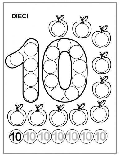 numeri per bambini da colorare 10