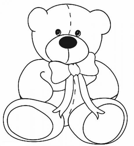 orsetto da colorare per bambini