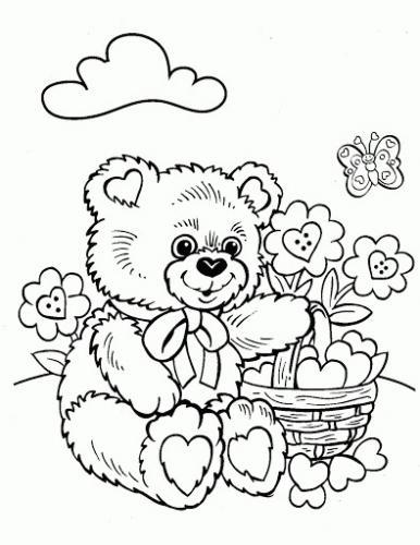 orso da colorare per bambini