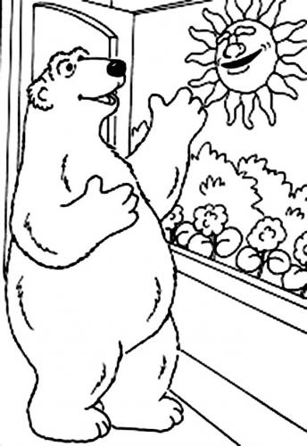 orso da colorare