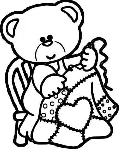 orso disegno per bambini