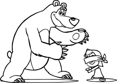 Masha e Orso giocano a nascondino