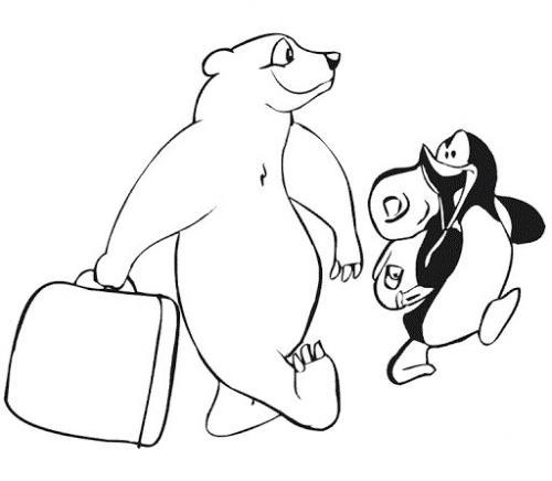 orso polare disegno