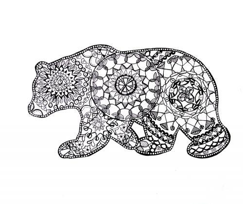 orso stilizzato