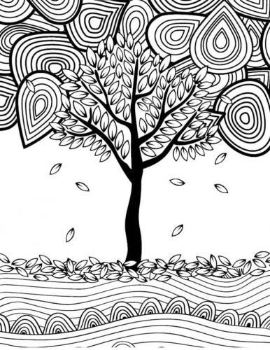 albero che perde le foglie