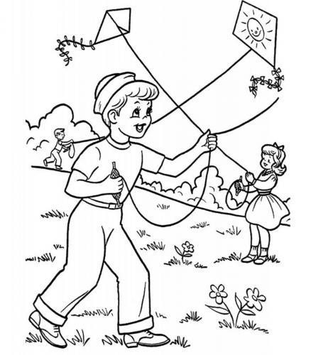 bambini con l'aquilone