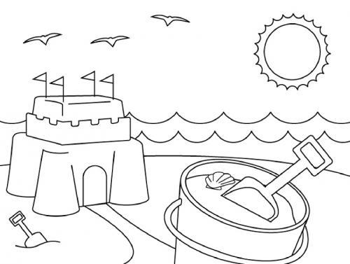 paesaggio estivo con un castello