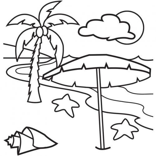 disegno semplice del mare
