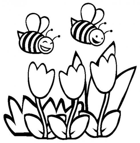 paesaggi per bambini con le api
