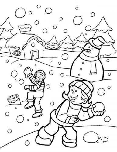 un paesaggio con la neve