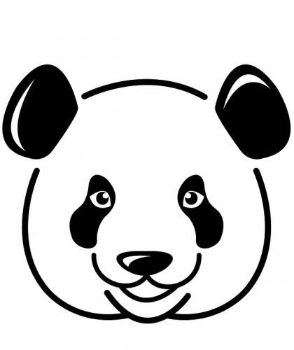 panda disegno da colorare