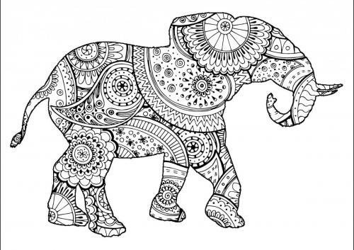 pdf elefante stilizzato