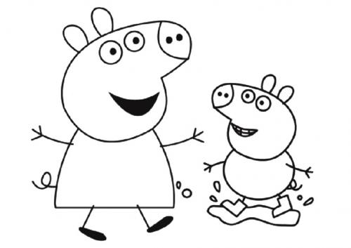 peppa pig da stampare e colorare