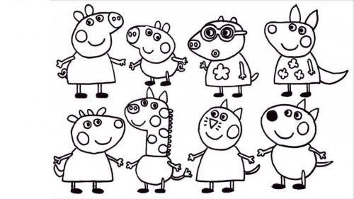 peppa pig e gli amici
