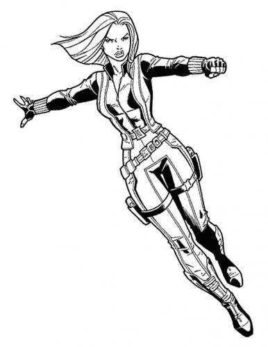 Personaggi Avengers da colorare Vedova Nera