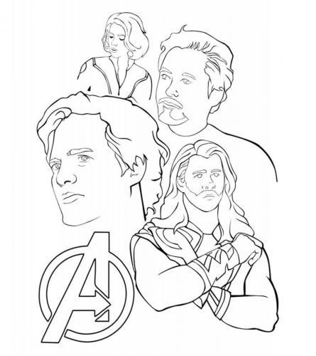 personaggi Avengers da colorare