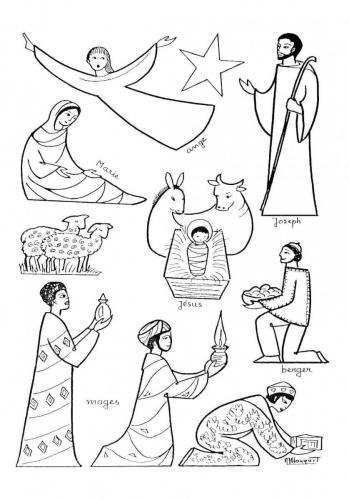 Re magi, bue e asinello, Gesù bambino, Giuseppe e Maria