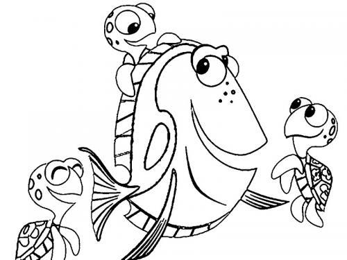 Dory con le tartarughe