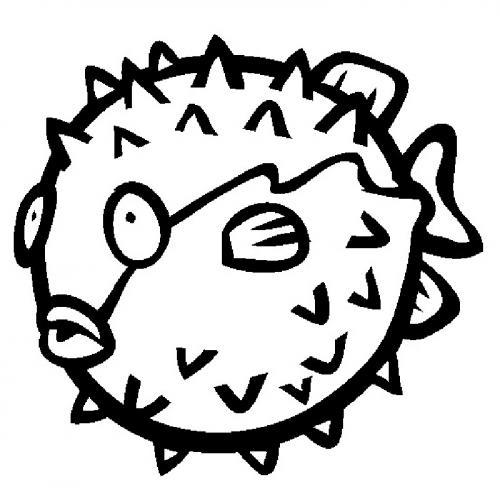 pesce palla stilizzato