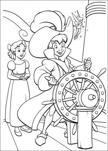 Peter Pan da colorare
