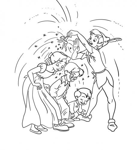 Peter Pan lancia la polverina magica