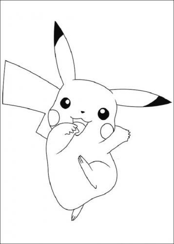 Pikachu da colorare