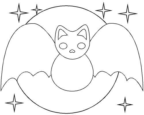 pipistrello di Halloween stilizzato