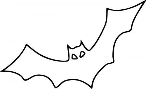 disegno stilizzato pipistrello