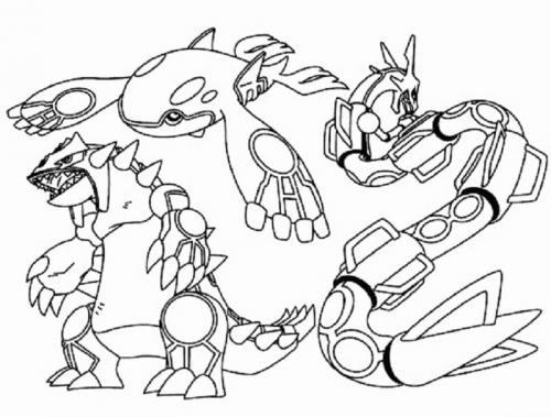 Pokémon da colorare Leggendari