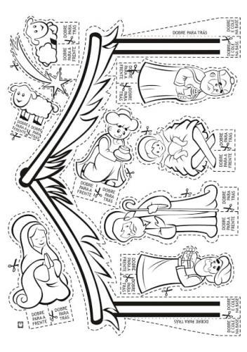 Gesù bambino, i re magi, la stella cometa, Maria, la capanna e gli animali
