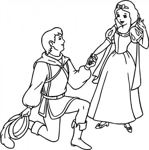 Il principe chiede la mano a Biancaneve