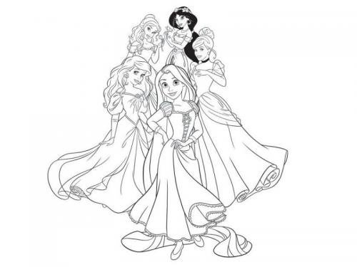 principessa da colorare e stampare