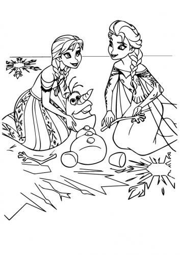 Anna ed Elsa giocano con Olaf