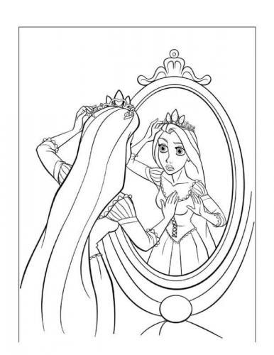principessa rapunzel da colorare