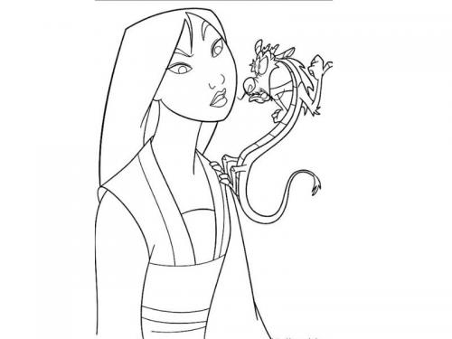 principesse colorare Mulan