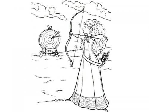principessa Merida lancia la freccia