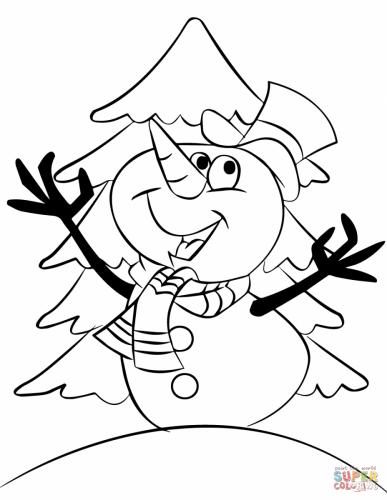 pupazzo di neve con sciarpa e cappello