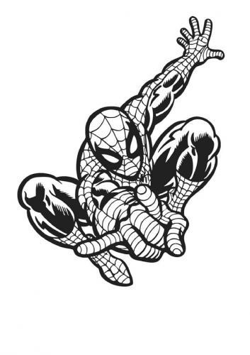 ragno di spiderman da colorare