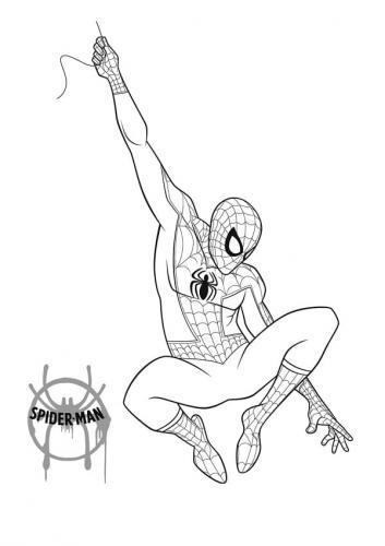 ragno spiderman da colorare