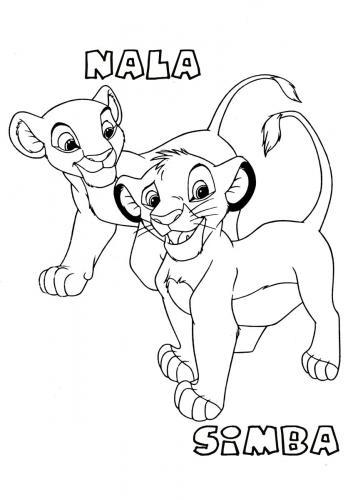 re leone da colorare e stampare