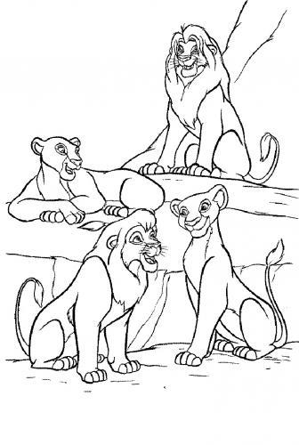 re leone disegni da colorare