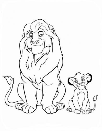 re leone immagini da colorare