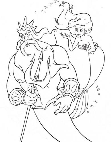 Re Tritone con Ariel