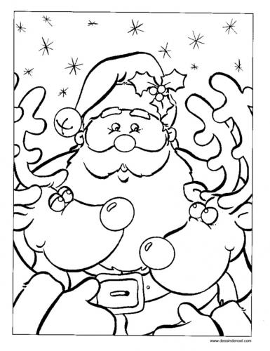 Renne di Babbo Natale da stampare e colorare