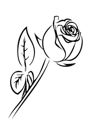 bocciolo di rosa stilizzato